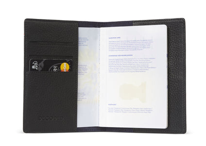 Passport Holder Black-Passport Holder-Decoded Bags