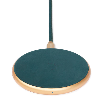 FastPad Wireless Charger Forest Green / Gold