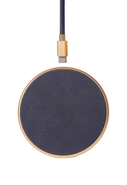 FastPad Wireless Charger Navy / Gold