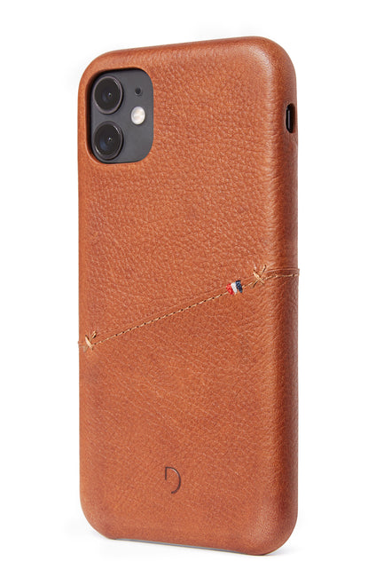 Back Cover Card Case Brown - iPhone 11