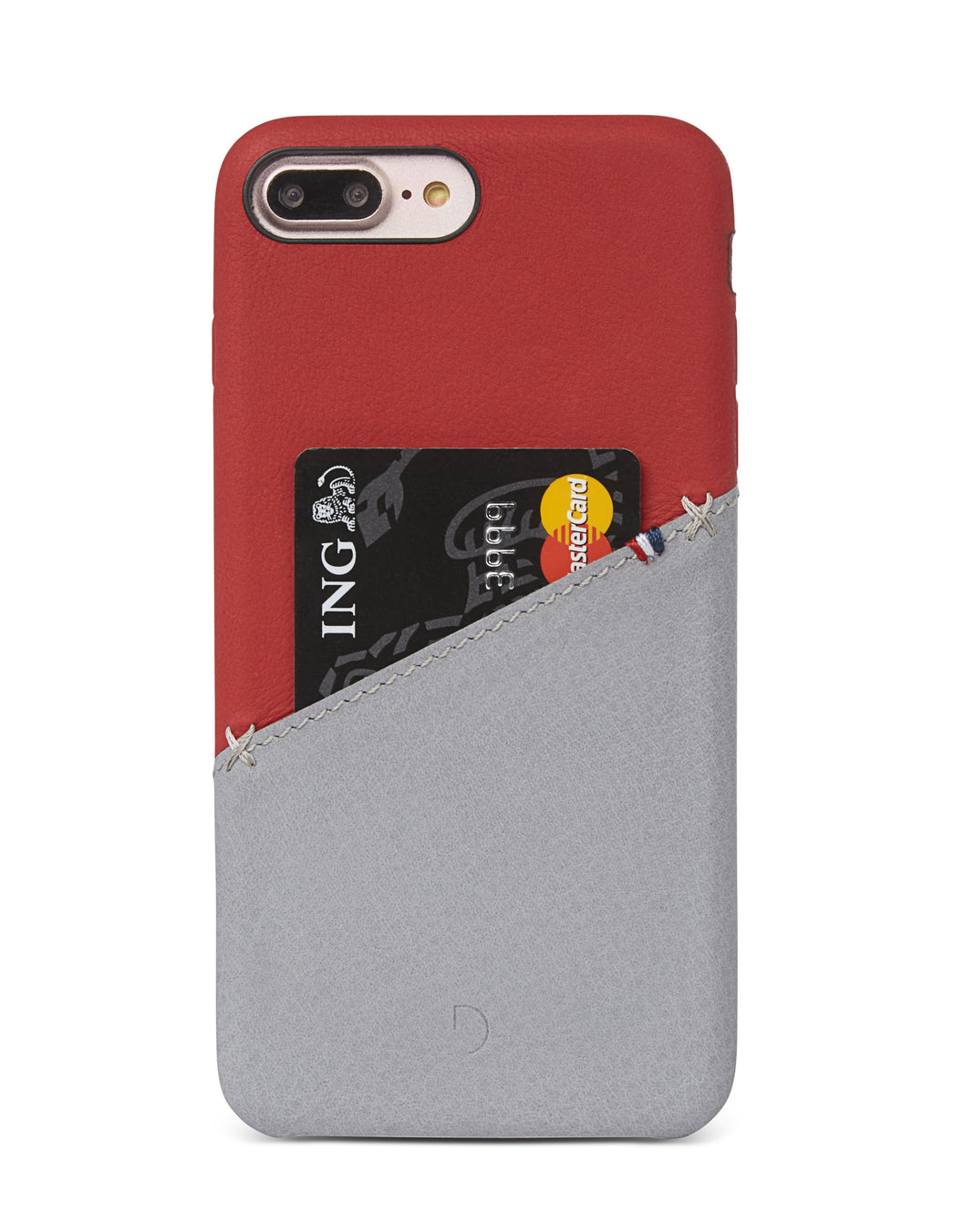 Back Cover Card Case Red/Grey - iPhone 6s / 6 Plus