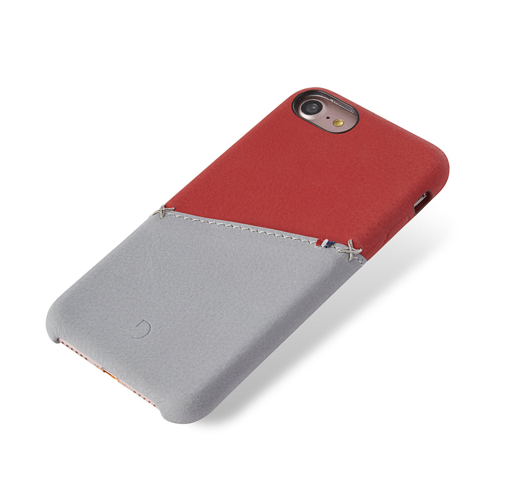 Back Cover Card Case Red/Grey - iPhone 7