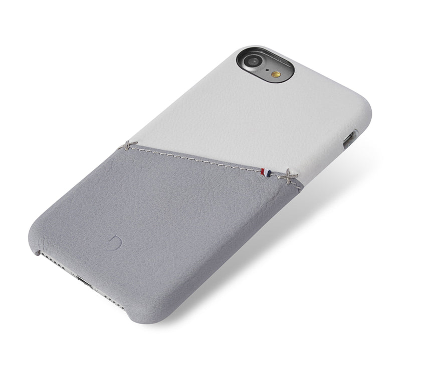Back Cover Card Case White/Grey - iPhone 8-Back Cover-Decoded Bags