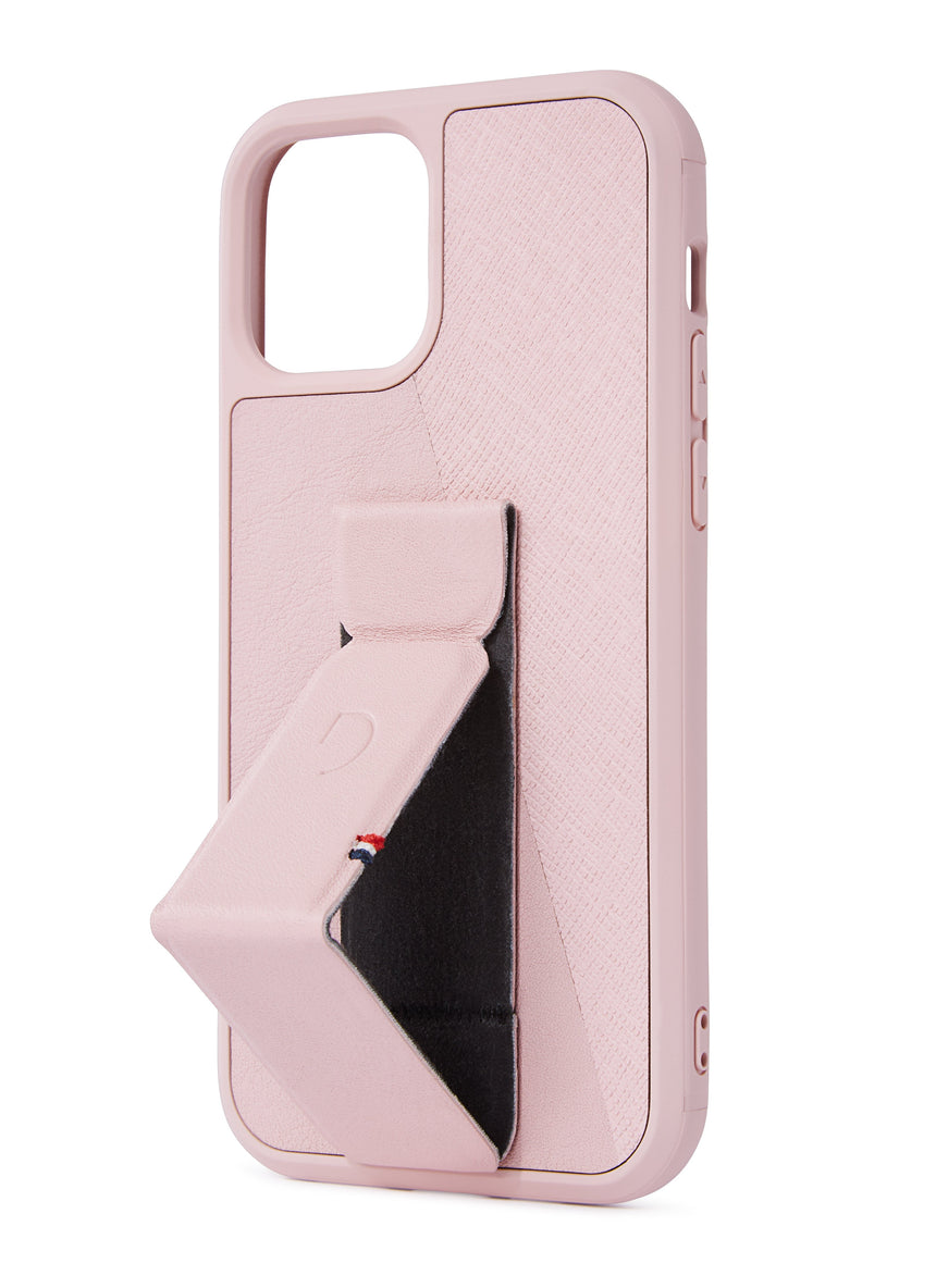 Stand Case Split Silver Pink - iPhone 12 Pro-Stand Case-Decoded Bags