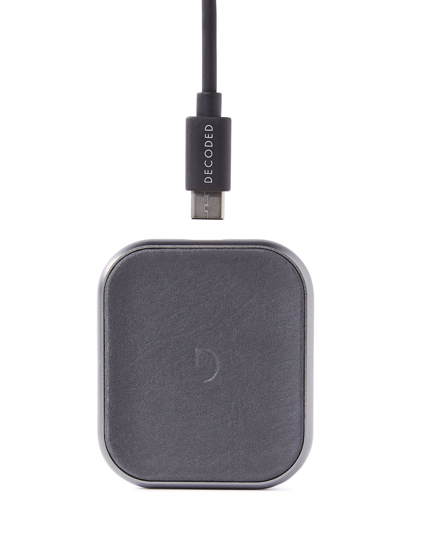 FastPad Mini Wireless Charger Anthracite-Apple Watch Charger-Decoded Bags
