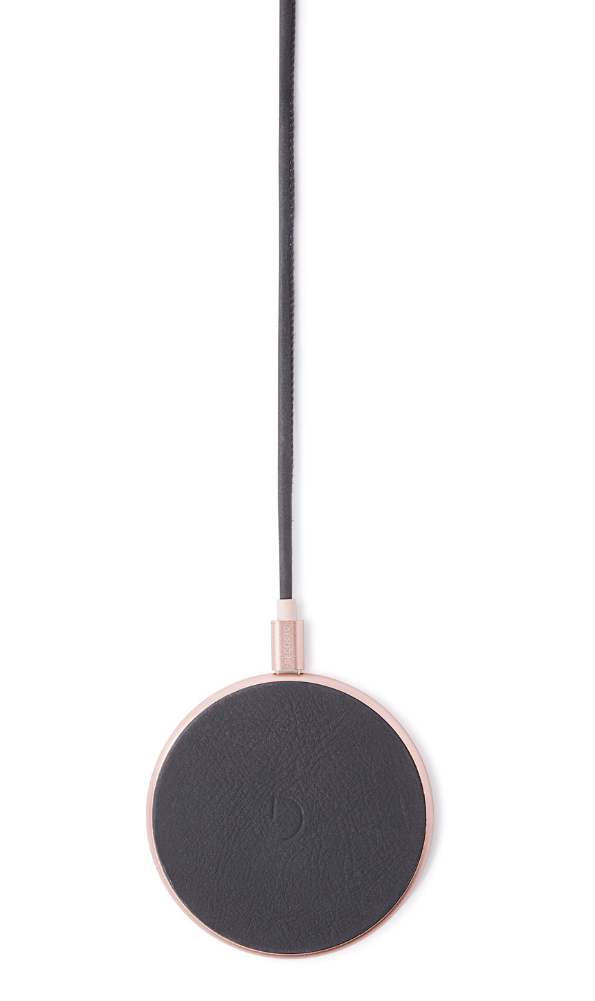 FastPad Wireless Charger Anthracite / Rose-Wireless Charger-Decoded Bags