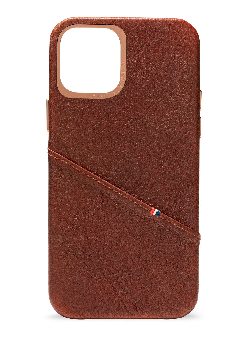 Back Cover Card Case Brown - iPhone 12 Pro-Back Cover-Decoded Bags