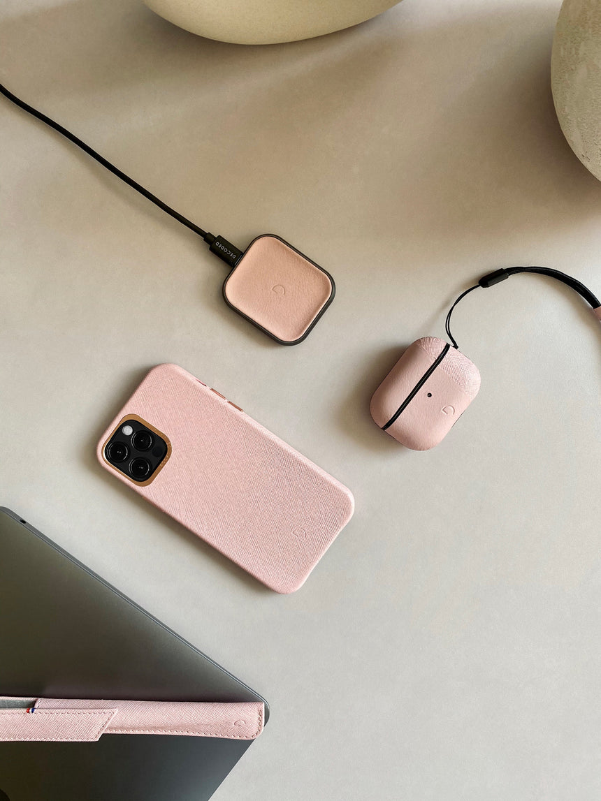 FastPad Mini Wireless Charger Silver Pink-Apple Watch Charger-Decoded Bags