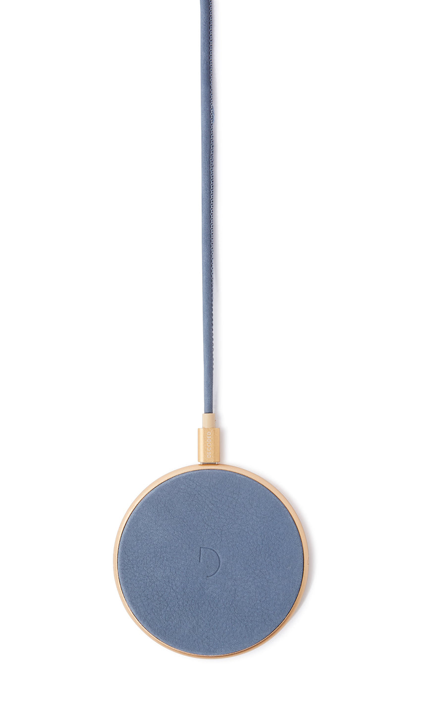 FastPad Wireless Charger Ash Blue / Gold-Wireless Charger-Decoded Bags