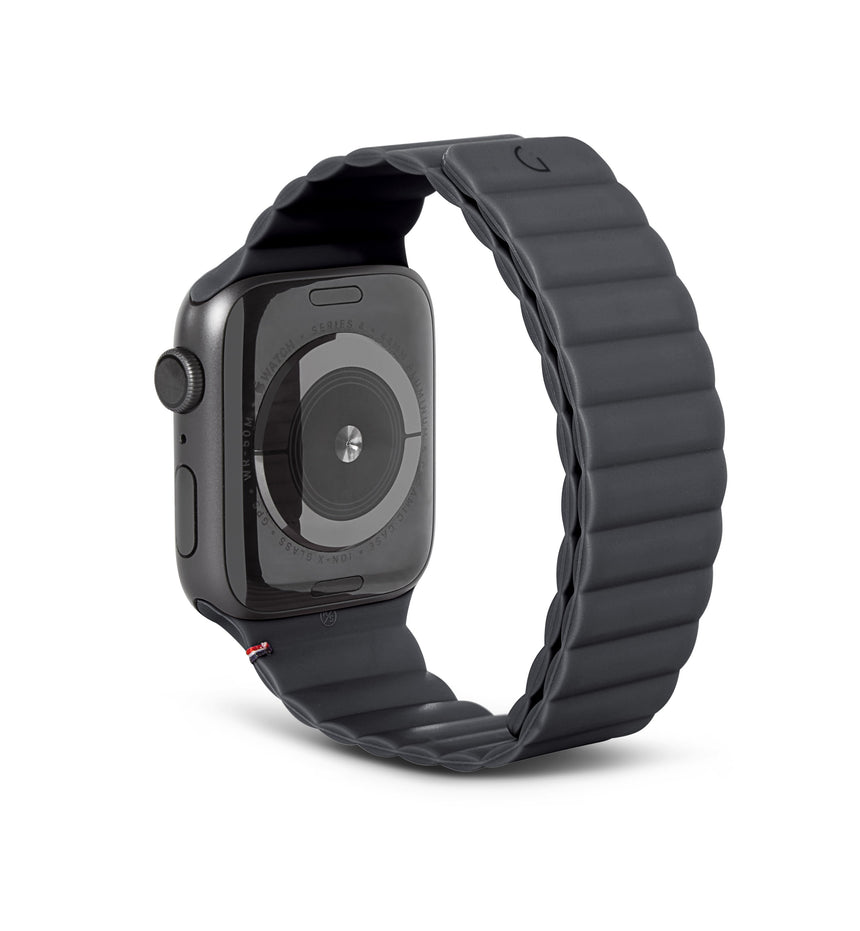 DECODED Silicone Magnetic Traction Strap Charcoal - 44 mm