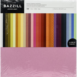 "Bazzil Premium Cardstock Value Pack 12""X12"" 100/Pkg"