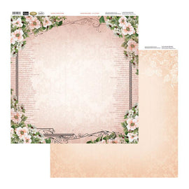 Couture Creations Patterned Paper - Vintage Roses - Frame Of Roses (12x12)