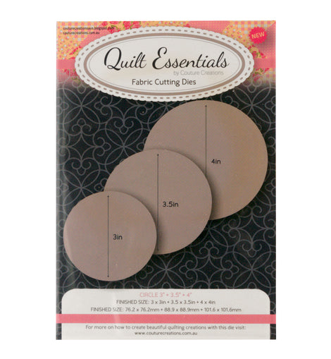 Quilting Circle 3in + 3.5in + 4in Dies (CO724340)**