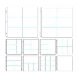 Couture Creations Album Refills Assorted Dividers 12in x 12in (10pc, No Paper Insert) CO724373