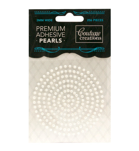 Snow White Adhesive Pearls - CO724633**