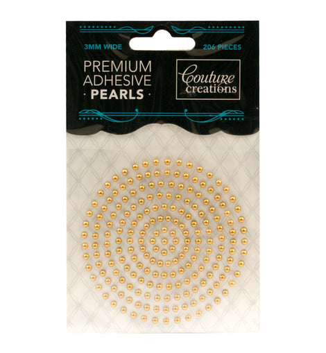 Glamorous Gold Adhesive Pearls - CO724644
