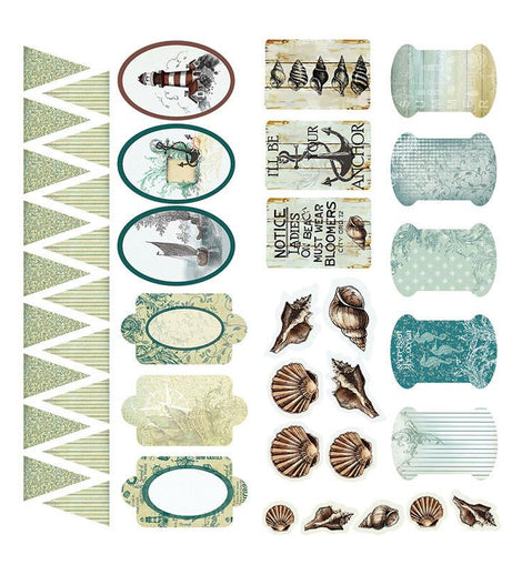 Couture Creations Sea Breeze Set Adhesive Chipboard CO724680