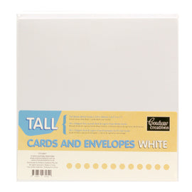 Card And Envelope Set White Tall 8.2in x 4.1in (210mm x 105mm) 50 Sets CO724847