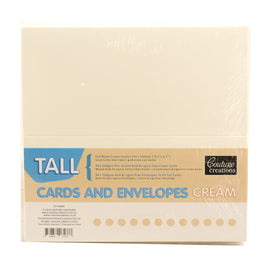 Card And Envelope Set Cream Tall CO724848