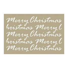 Couture Creations Stencil - Be Merry - Merry Christmas Script (4 x 6in)