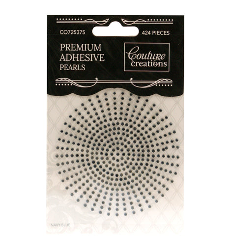 Navy Blue Adhesive Pearls - CO725375