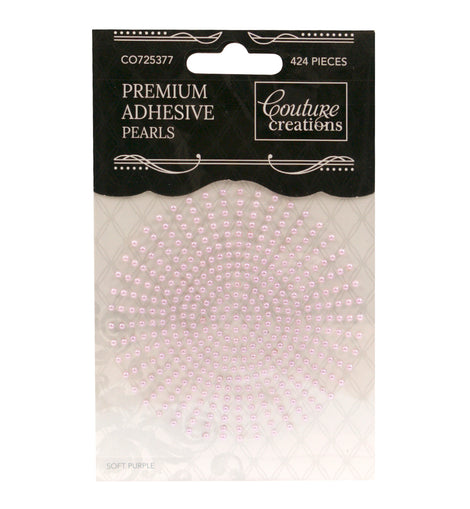 Soft Purple Adhesive Pearls CO725377