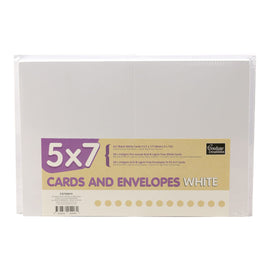 5x7 White Card & Envelope Pack - (50 Sets) CO725815**