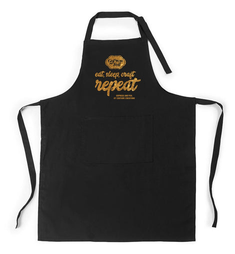 Couture Creations Eat, Sleep, Craft Repeat Black Craft Apron