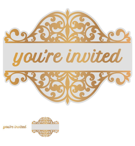 Couture Creations You're Invited Tag Set (1pc) Gentlemans Emporium Collection, Cut, Foil & Embossing Die 102mm x 77mm CO726856