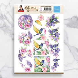 Tropical Birds 3D Diecut Decoupage CO727746**