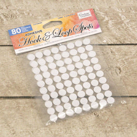 Adhesive Hook & Loop Spots - White (80pcs) CO728286**