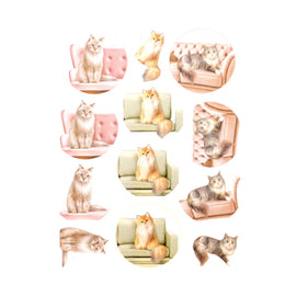 Couture Creations 3D Diecut Decoupage Pushout Kit - Amy Design - Cats World - Show Cats