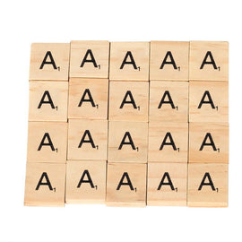 Alphabet Scrabble Tiles (Wooden)