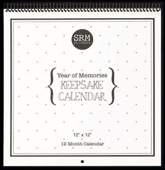 Year of Memories Keepsake 12 x 12 Calendar with Snappy Months & Dates (SRC48080)