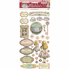 Alice Chipboard with Gold Printing 15cm x 30cm (DFLCB12G)