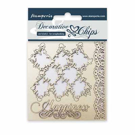 Lace and Border Chipboard (SCB07)