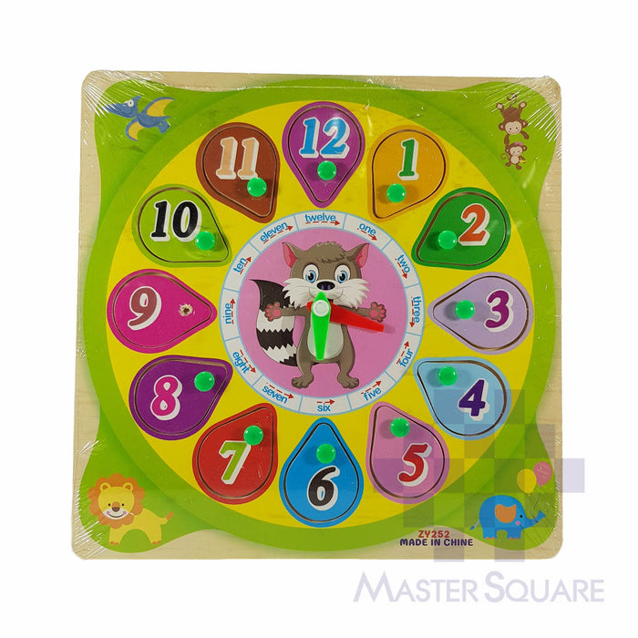 Wooden Puzzle Clock 936226-Master Square