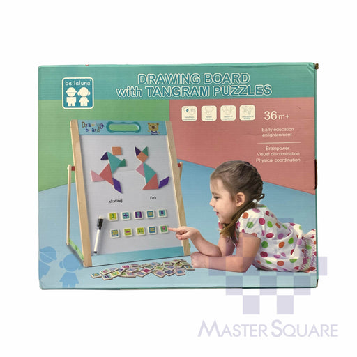 Drawing Board With Tangram Puzzles-Master Square