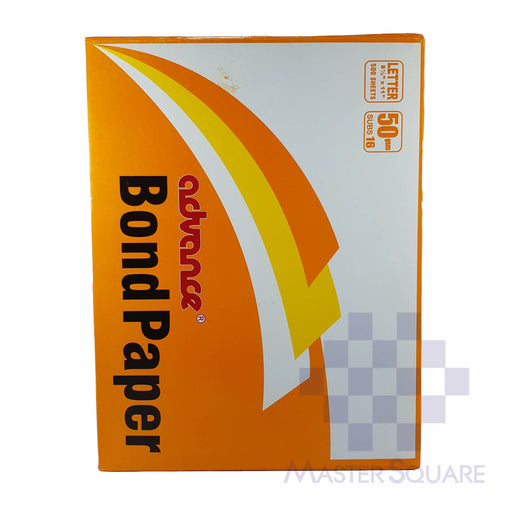 Advance Bond Paper 8.5x11in Sub16 (Max of 2reams/brand per delivery. Please choose another brand if you wish to add more reams to your order)-Master Square