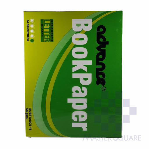 Advance Book Paper 8.5x11in Sub18 (Max of 2reams/brand per delivery. Please choose another brand if you wish to add more reams to your order)-Master Square