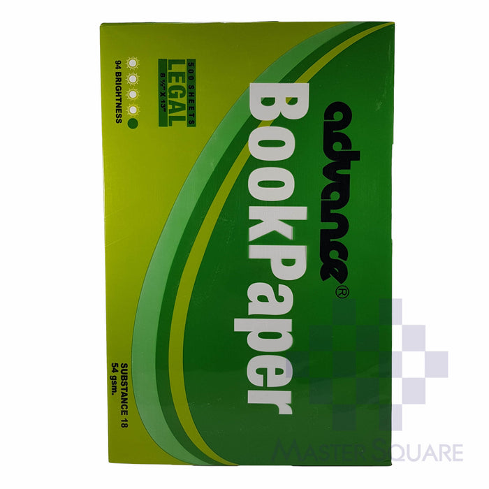 Advance Book Paper 8.5x13in Sub18 (Max of 2reams/brand per delivery. Please choose another brand if you wish to add more reams to your order)-Master Square