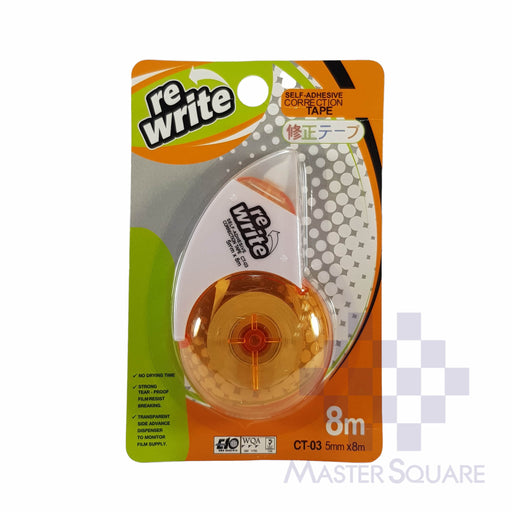 Re-write Correction Tape Ct-03 5mm X 8m-Master Square