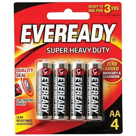 Eveready Black Aa Bp 4's-Master Square