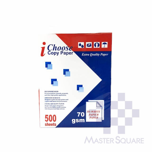I-choose Copy Paper 8.5 X 11 Sub20 (Max of 2reams/brand per delivery. Please choose another brand if you wish to add more reams to your order)-Master Square