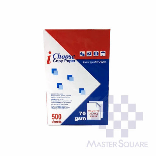I-choose Copy Paper 8.5 X 13 Sub20 (Max of 2reams/brand per delivery. Please choose another brand if you wish to add more reams to your order)-Master Square
