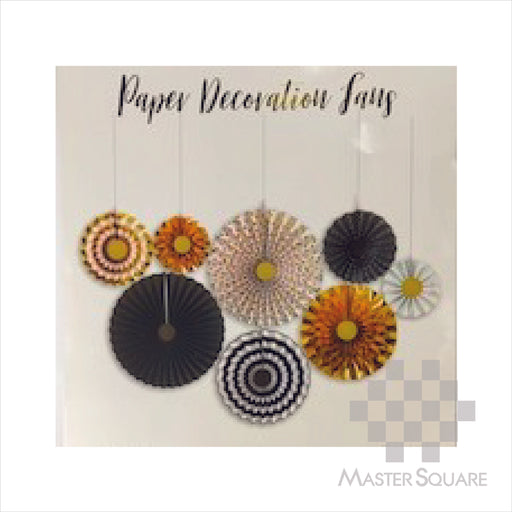 Paper Fan 8in1 Black And Gold-Master Square