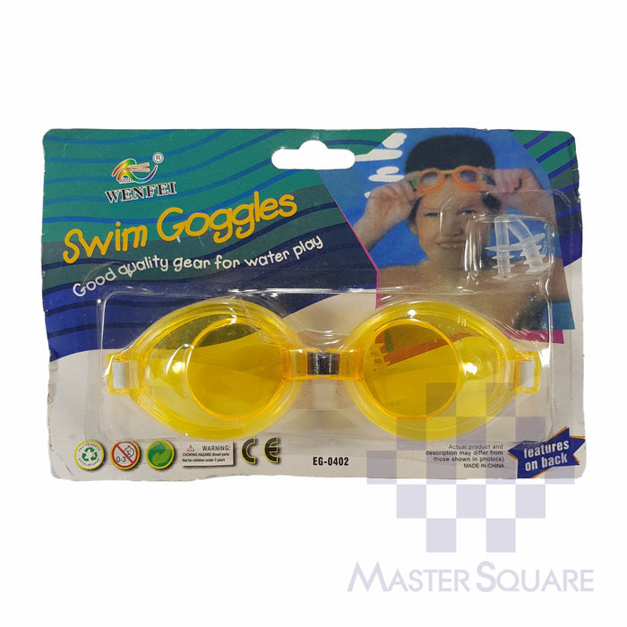 Swimming Goggles Yellow 0402-Master Square