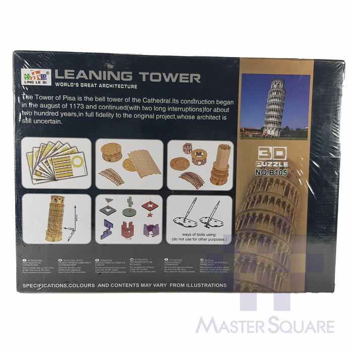 3d Leaning Tower Puzzle B105-Master Square