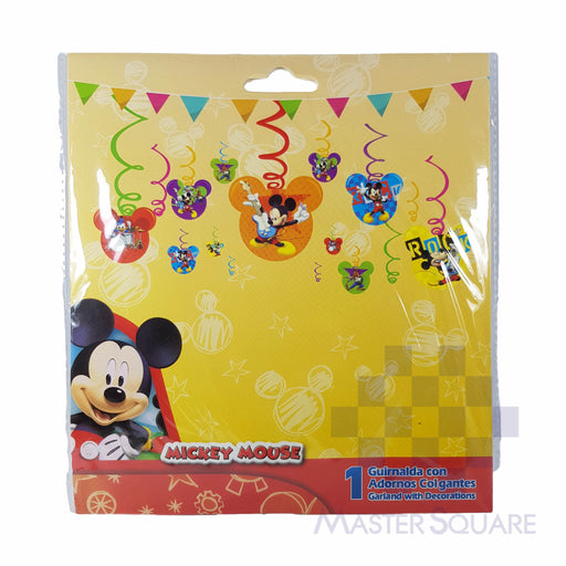 Party Swirl Hanging Decor Mickey-Master Square