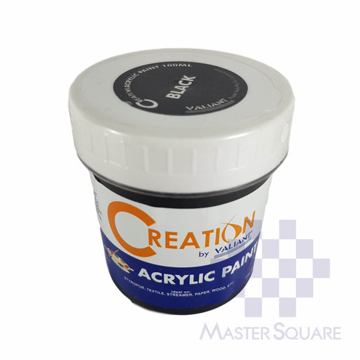 Creation Acrylic Paint 100ml Black-Master Square